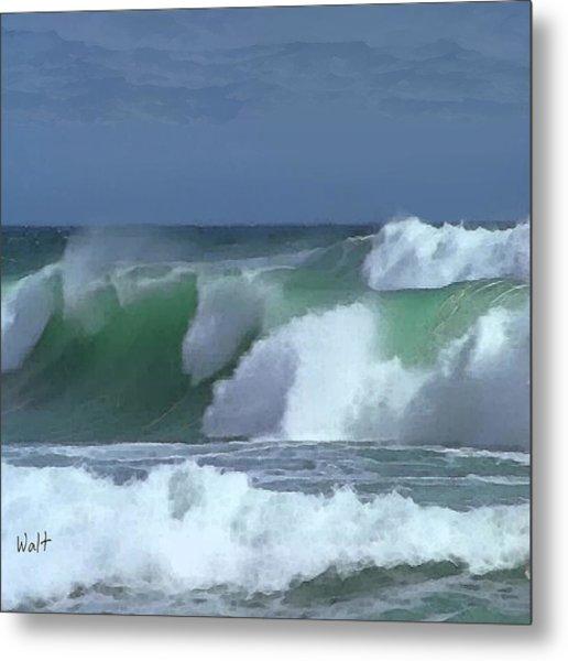 Monterey Surf Metal Print