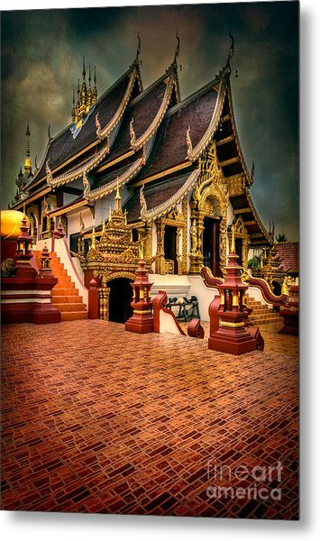 Metal Print featuring the photograph Monthian Temple Chiang Mai  by Adrian Evans