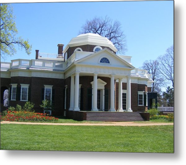 Monticello Metal Print by James and Vickie Rankin