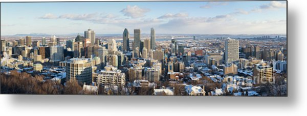 Montreal In Winter Panorama Metal Print