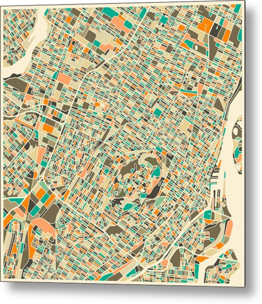 Montreal Map Metal Print