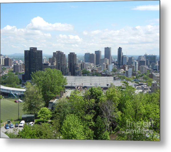 Montreal View From Mcgill Residences Metal Print