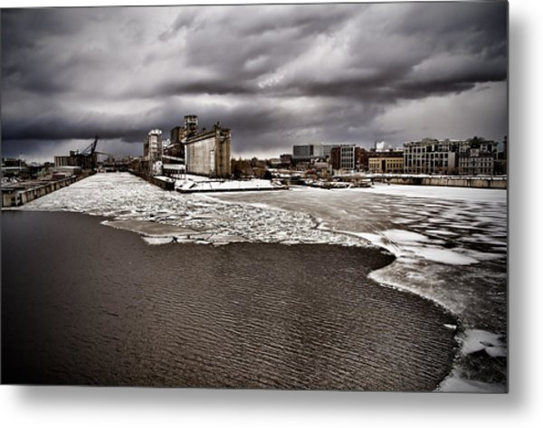 Montreal's Old Port Metal Print by Michel Filion