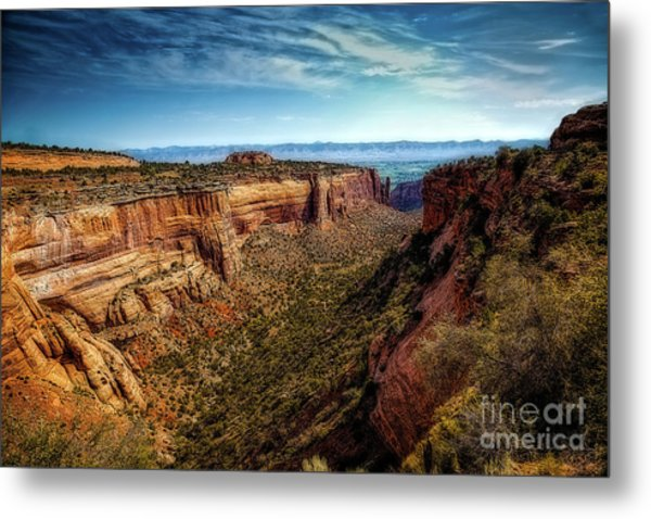 Monument Canyon And Saddlehorn Metal Print