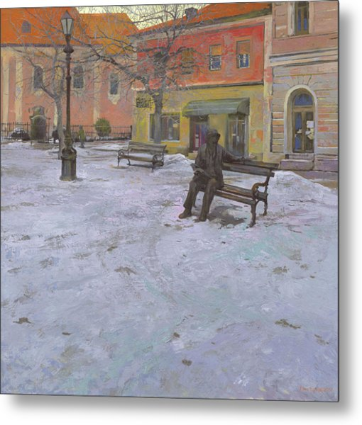 Metal Print featuring the painting Monument Of Laza Costic In Sombor by Denis Chernov