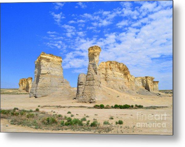 Monument Rocks In Kansas 2 Metal Print