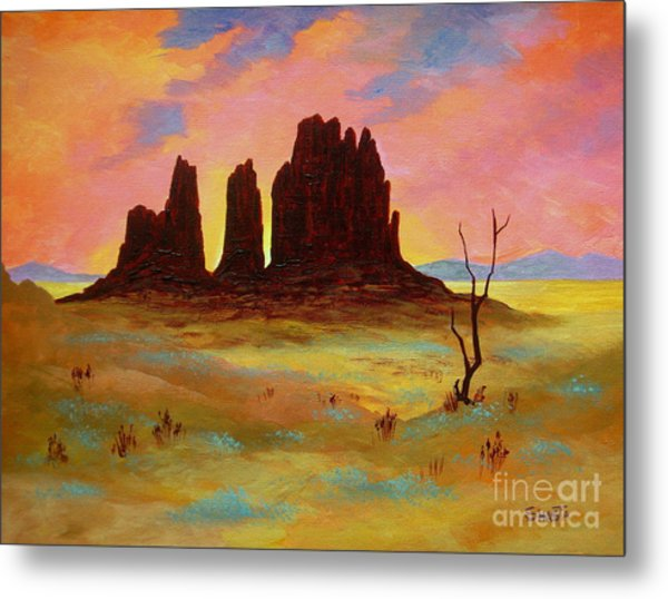 Monument Metal Print by Shasta Eone