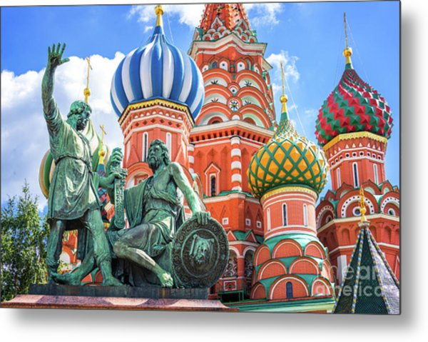 Monument To Minin And Pozharsky Metal Print