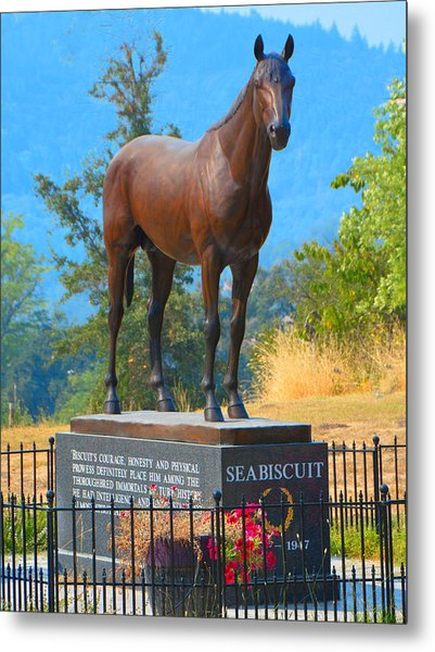 Monument To Seabiscuit Metal Print