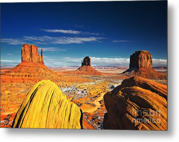 Monument Valley Mittens Utah Usa Metal Print