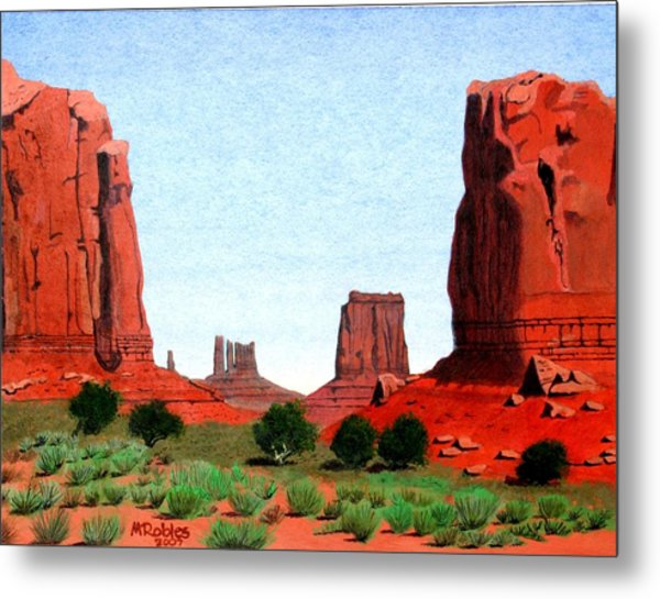 Monument Valley North Window Metal Print