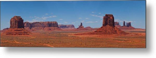 Monument Valley Panoramic Metal Print