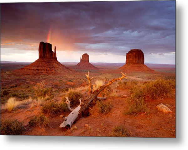 Monument Valley Rainbow Metal Print by Eric Foltz