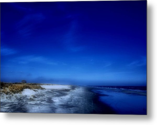 Mood Of A Beach Evening - Jersey Shore Metal Print