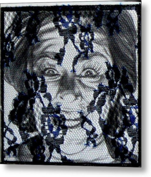 Mood Swings  Net Metal Print by Joseph Lawrence Vasile