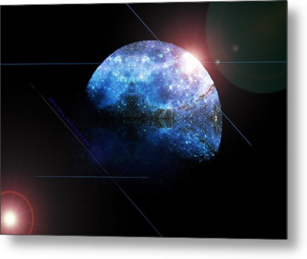 Moon All Lit Up Metal Print