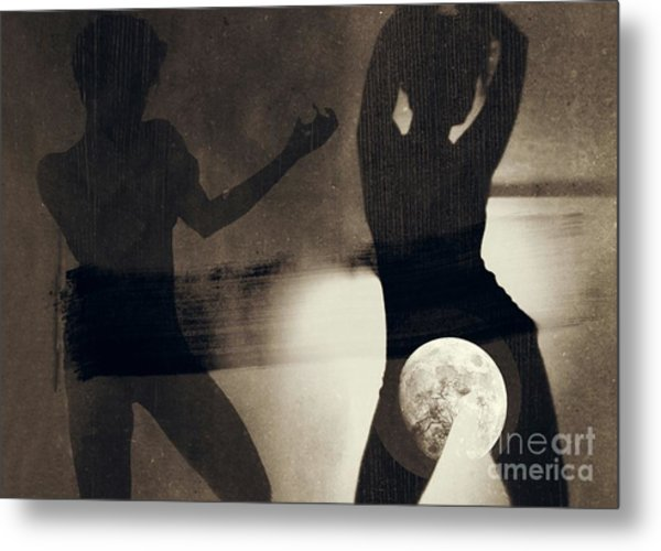 Moon And Then Metal Print