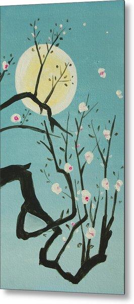 Moon Blossoms Metal Print