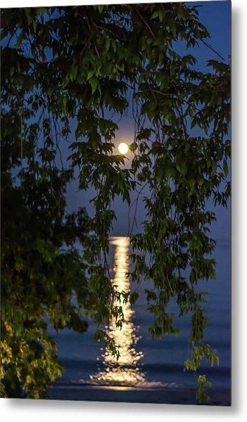 Moon Curtain Metal Print
