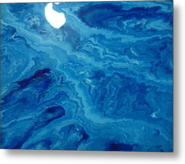 Moon Dancing With The Mountain Metal Print by Gregory Young