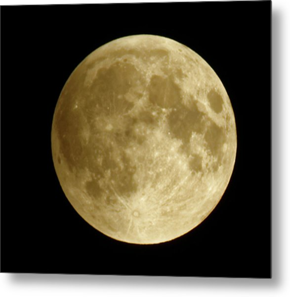 Moon During Eclipse Metal Print