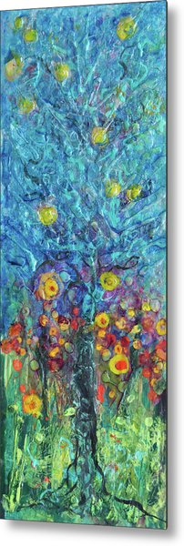 Moon Flowers Metal Print