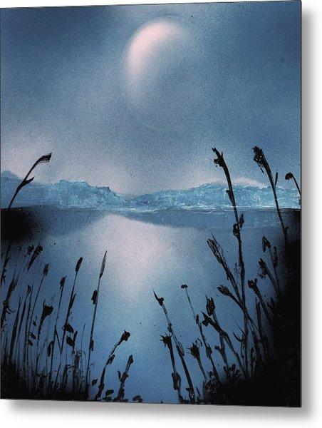 Moon Fog Metal Print