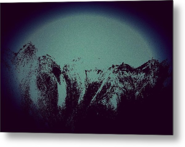 Moon In The Mountains Metal Print