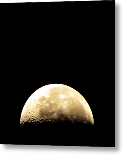 Moon Loop Metal Print