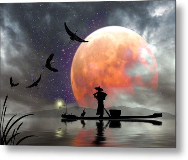 Moon Mist Metal Print