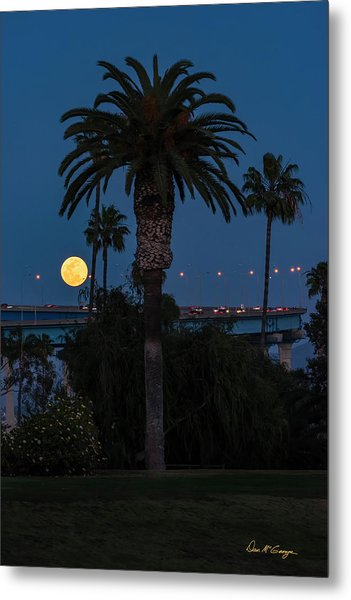 Metal Print featuring the photograph Moon On The Rise by Dan McGeorge