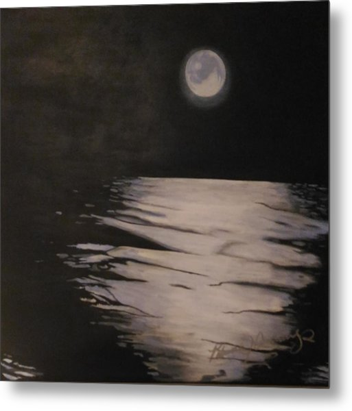 Moon Over The Wedge Metal Print