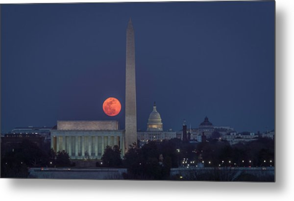 Moon Over Monuments Metal Print by Michael Donahue