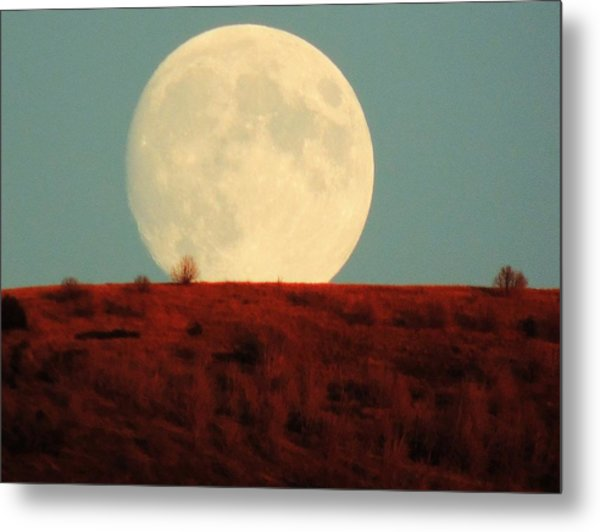 Moon Over Utah Metal Print