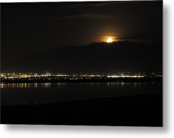 Metal Print featuring the photograph Moon Rise At Washatch by Norman Hall