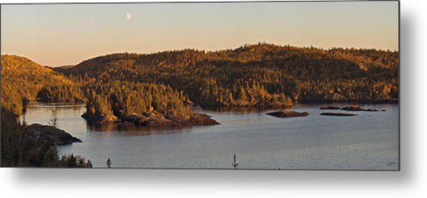 Moon Rise Over Pukaskwa Metal Print