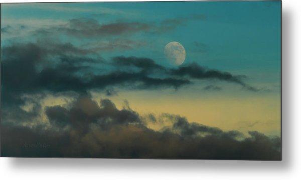 Moon Rise Sun Set Metal Print by Steven Poulton