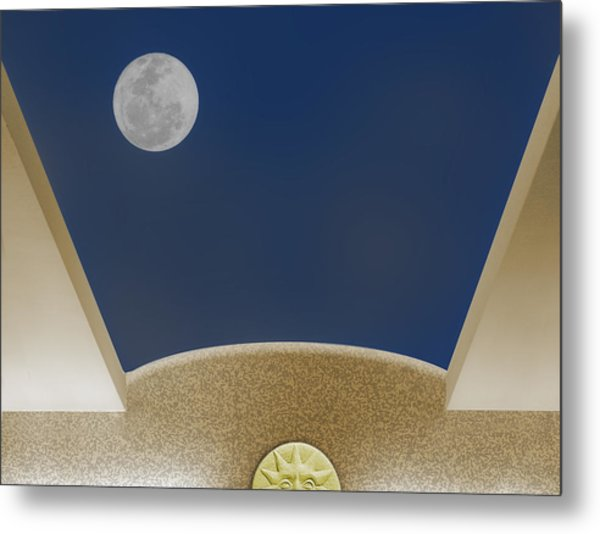 Metal Print featuring the photograph Moon Roof by Paul Wear