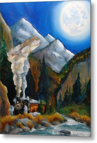 Moon Train  Metal Print by Andrea  Darlington