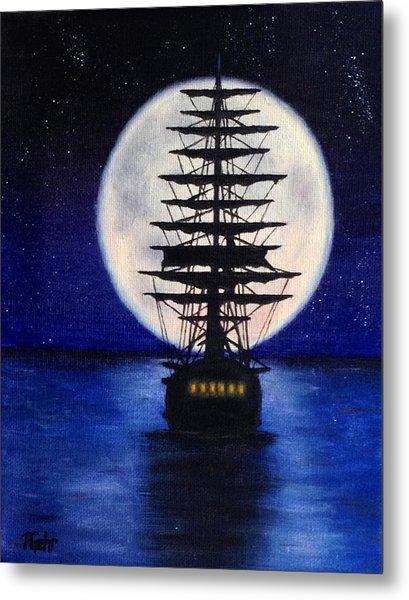 Moon Voyage Metal Print