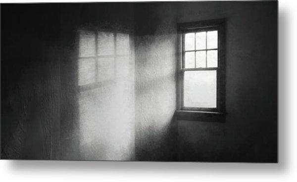 Moonbeams On The Attic Window Metal Print