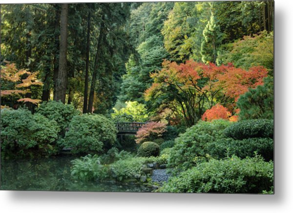 Moonbridge Autumn Serenade Metal Print