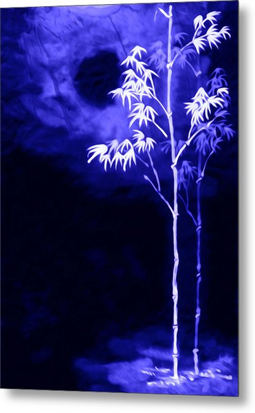 Moonlight Bamboo Metal Print