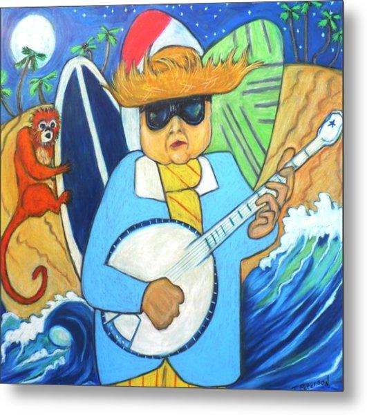 Moonlight Banjo Surfmonkey Metal Print