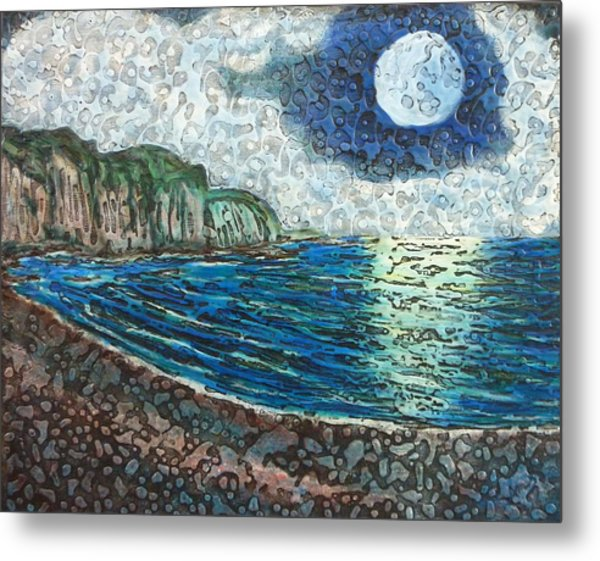 Moonlight In Pourvill Metal Print