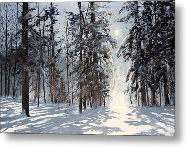 moonlight in Vermont Metal Print
