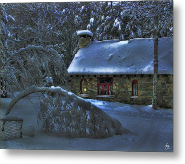 Moonlight On The Stonehouse Metal Print
