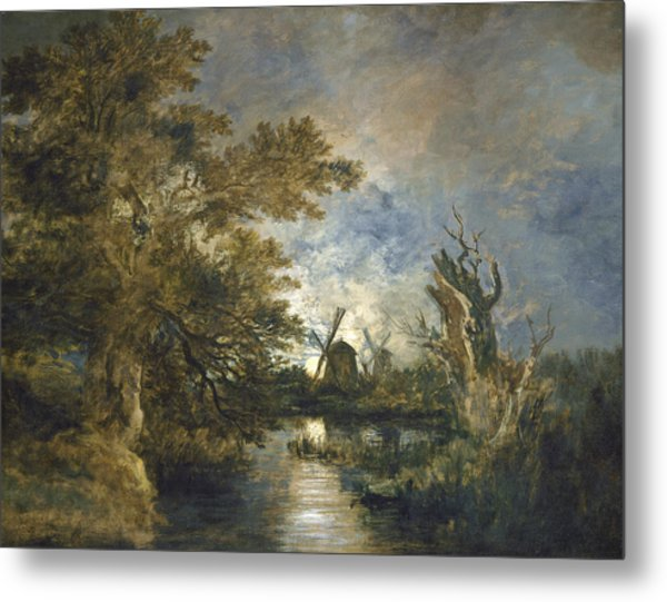 Moonlight On The Yare Metal Print