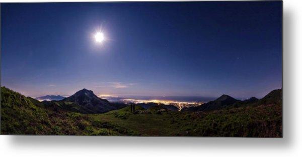 Moonlight Panorama Metal Print