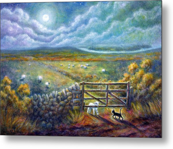 Moonlight Rendezvous Metal Print